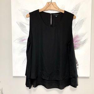 Zac & Rachel Blouse Sleeveless Black Size XL